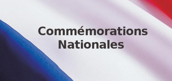 Commémorations nationales le 29 avril et le 8 mai